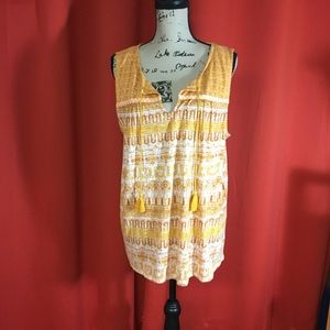 Lucky brand yellow top. NWT. Size XL